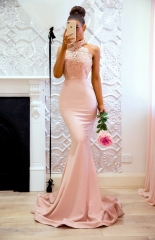 Pink Mermaid Pageant Gown Prom Dress