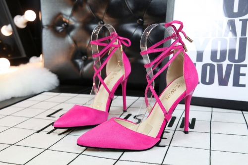 Pink Color Suede Face Sexy Club High Heel