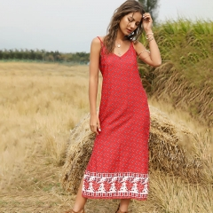 Boho Bandage Split Street Wear Loose Dresses